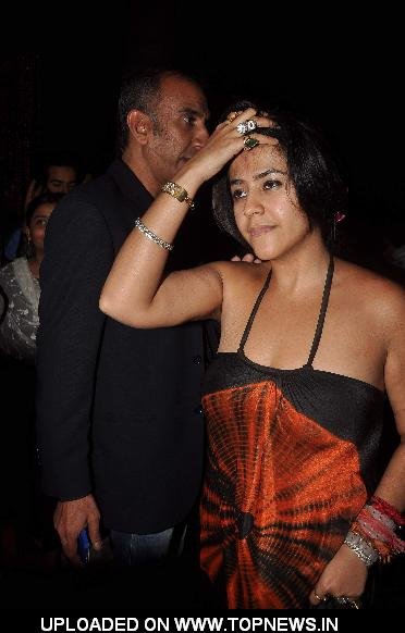 "Ekta Kapoor at Sanjay Dutt's bash for ""Agneepath"""