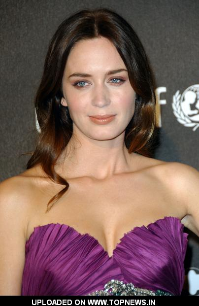 emily blunt at montblanc signature for good charity gala - arrivals ...