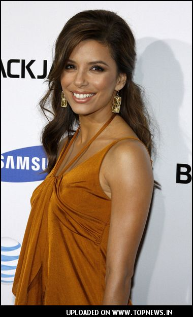 Eva Longoria at Samsung BlackJack II Launch Party