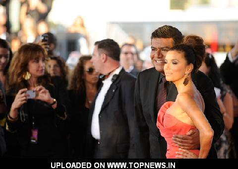 Eva Longoria and George Lopez at the 2011 NCLR ALMA Awards