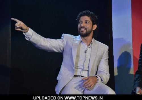 Filmmaker and actor Farhan Akhtar launches HSBC and Makemytrip credit card at Grand Hyatt