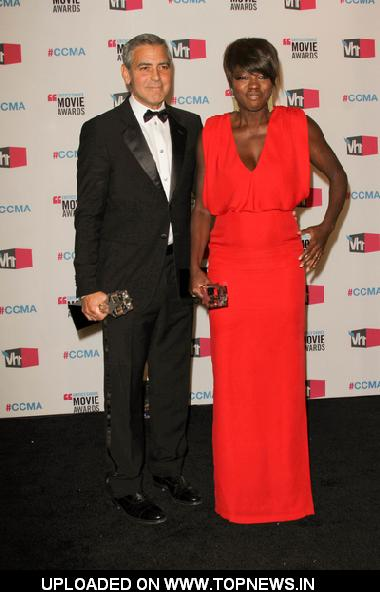 George Clooney and Viola Davis at 17th Annual Critics Choice Movie Awards - Press Room
