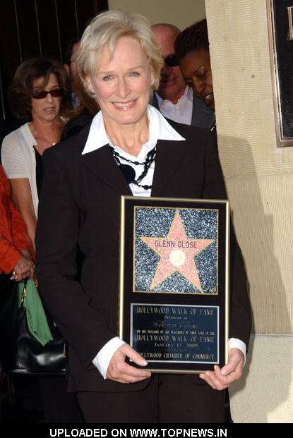 Glenn Close at  Honored With a Star on the Hollywood Walk of Fame on January 12, 2009