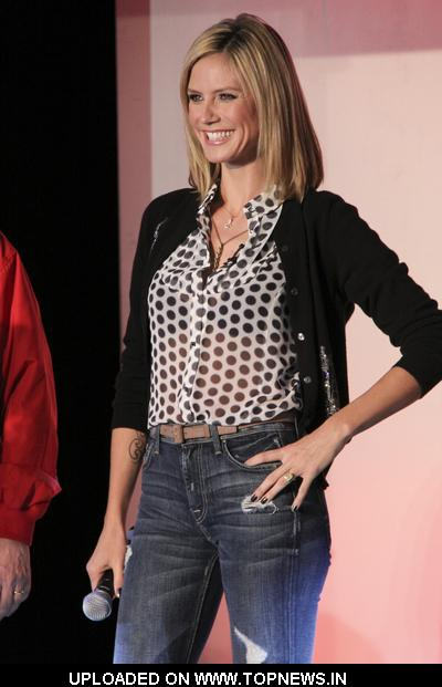 "Heidi Klum Tapes ""Germany's Next Top Model"" at the Fashion Show Mall in Las Vegas on January 24, 2009"