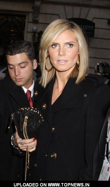 Heidi Klum at Mercedes-Benz Fashion Week Fall 2009 - Celebrity Sightings in Bryant Park - Day 3