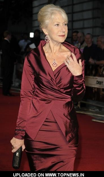 "Helen Mirren at ""The Debt"" UK Premiere - Arrivals"