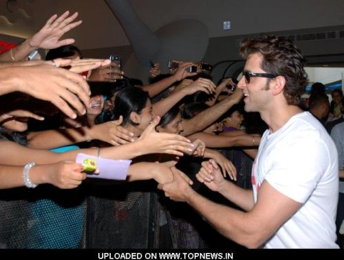 "Hrithik Roshan at the Promotion of Movie ""Kites"""