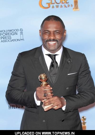 Idris Elba at 69th Annual Golden Globe Awards - Press Room