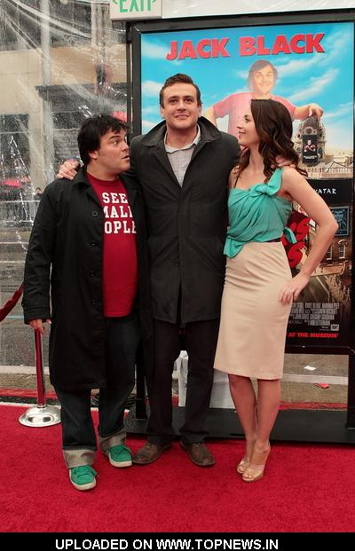 "Jack Black, Jason Segal and Emily Blunt  at  ""Gulliver's Travels"" Los Angeles Premiere - Arrivals 2010-12-18"