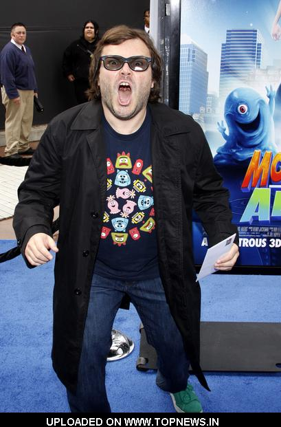 "Jack Black at ""Monsters vs. Aliens"" Los Angeles Premiere - Arrivals"