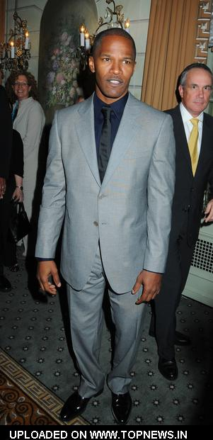 Jamie Foxx at 2009 UJA Federation of New York Music Visionary of the Year Luncheon - Arrivals