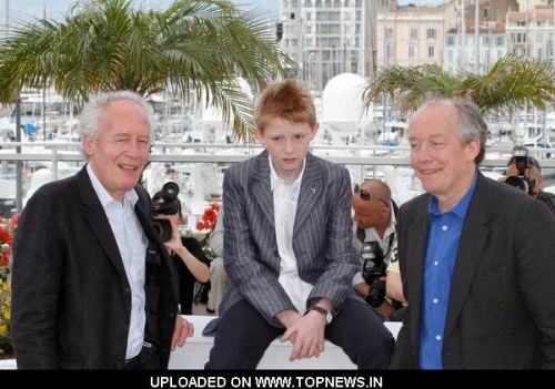 "Jean-Pierre Dardenne, Thomas Dore and Luc Dardenne at 64th Annual Cannes Film Festival - ""Le Gamin Au Velo""  Photocall"