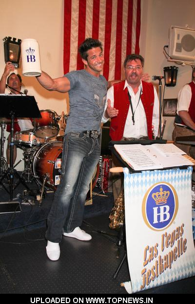 Jeff Timmons at Jeff Timmons and The Chippendales Host a Keg Tapping at Hofbrauhaus in Las Vegas
