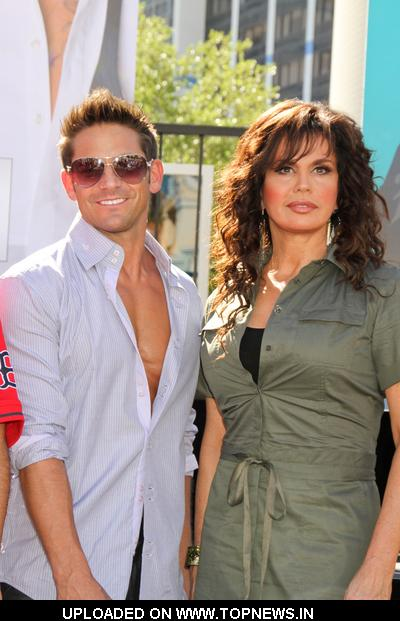Jeff Timmons and Marie Osmond at Caesars Entertainment Jubilee! Showgirls March Against Resort Fees for Visitors in Las Vegas