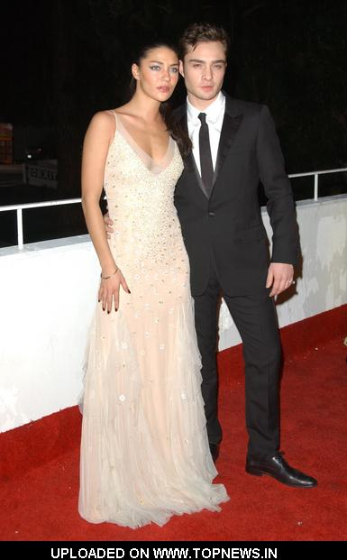 "Jessica Szohr and Ed Westwick at The Art Of Elysium's 3rd Annual ""Heaven"" Black Tie Charity Gala - Arrivals"
