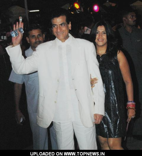 Jitendra and Ekta Kapoor at Premiere of Dabangg
