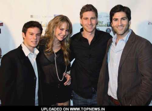 Josh Negrin, Amanda Rau and Drew Cohn at 2011 ITV Fest Launch Party - Arrivals