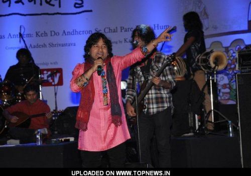 Kailash Kher performance in Delhi