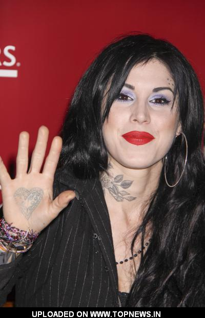 "Kat Von D Signs Copies of Her New Book ""High Voltage Tattoo"" at Borders"