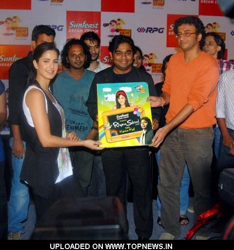 "Katrina Kaif, A R Rahman and Apurv Nagpal at the Launch of Magical Musical Nursery Kids Album-""Rhyme Skool"""