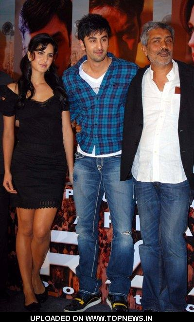 "Katrina Kaif, Ranbir Kapoor and Prakash Jha at the Press Conference of Movie- ""Raajneeti"""