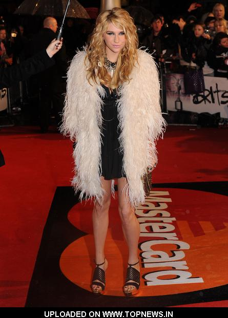 Ke$ha at The Brit Awards 2010 - Arrivals