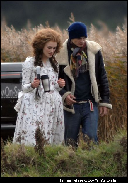 "Keira Knightly Sighting on the Film Set of ""The Duchess"" in Norfolk"