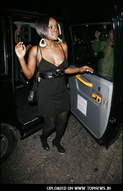 """Keisha-Buchanan"" at Kimberley Walsh (Girls Aloud) 26th Birthday Party Arrivals at the Burlington Nightclub in London"