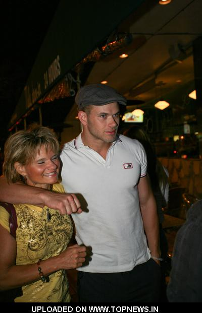 Kellan Lutz at Celebrities Arriving at Mel's Diner in West Hollywood on July 7, 2009