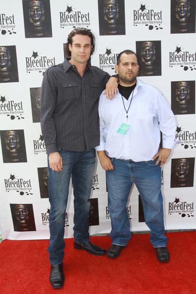 Kenneth Andrews and Sam Rivas at  BleedFest Film Festival 2.0 - September 25, 2011 - Arrivals