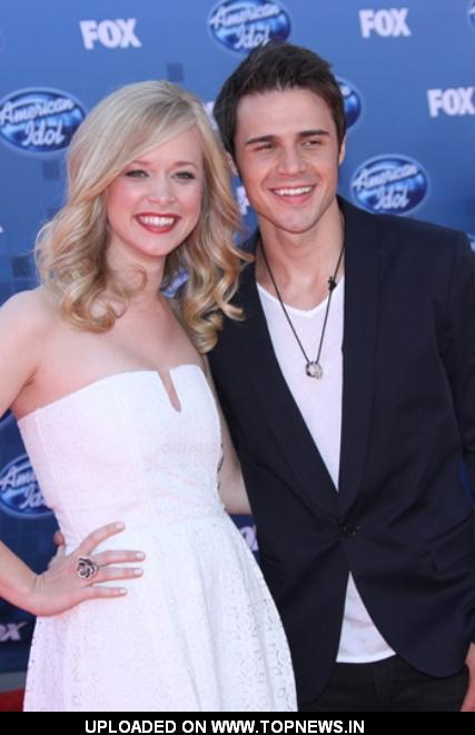Kris Allen and Katy Allen at American Idol 2011 Finale Arrivals