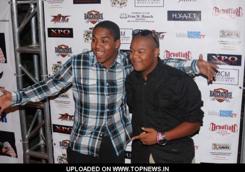 Kyle Massey at 4th Annual Leather Meets Lace at the Playboy Mansion October 9, 2010