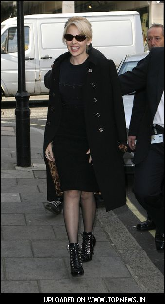 Event: Kylie Minogue Arrives at BBC Radio 1 in London on November 12, 2007