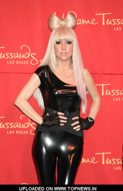 Lady Gaga at Wax Figure Unveiling at Madame Tussauds in Las Vegas on December 9, 2010