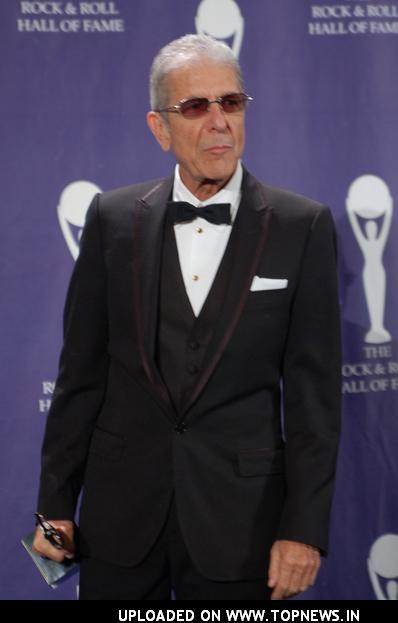 Leonard Cohen at 23rd Annual Rock and Roll Hall of Fame Induction Ceremony - Press Room