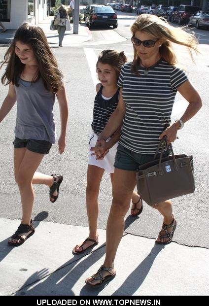 Lori Loughlin and Her Daughters Sighted Walking in Beverly Hills