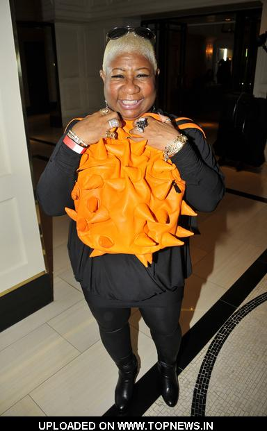 Luenell Campbell at 2011 Grammy Awards Red Carpet Style Lounge at The London Hotel