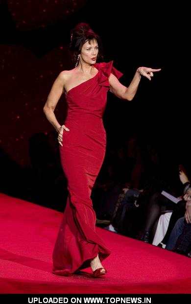 Lynda Carter at Mercedes-Benz Fashion Week Fall 2009 - Heart Truth's Red Dress Collection Fashion Show