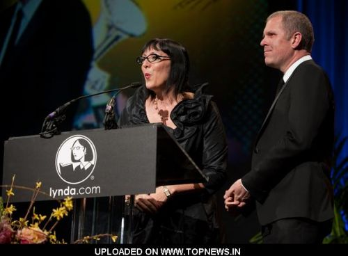 Lynda Weinman and Bruce Heavin at 26th Annual Santa Barbara International Film Festival - Award Tribute to Christopher Nolan