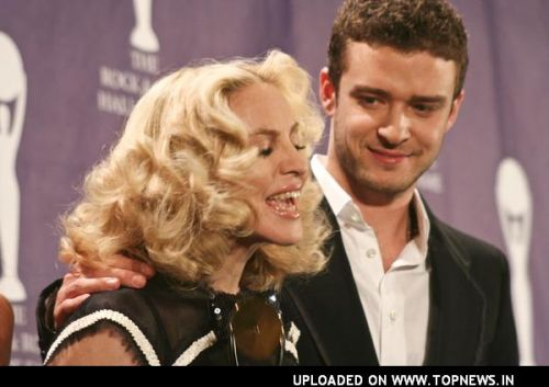 Madonna at 23rd Annual Rock and Roll Hall of Fame Induction Ceremony - Press Room