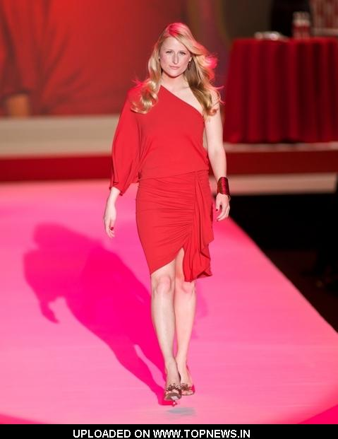 Mamie Gummer at Mercedes-Benz Fashion Week Fall 2010 - Heart Truth's Red Dress Collection - Runway