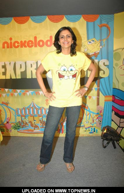 Mandira Bedi at Nickelodeon event in Mumbai Central