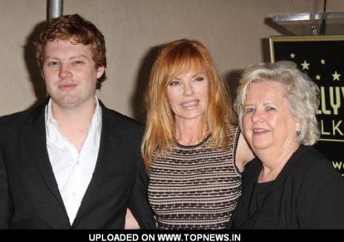 Photo of Marg Helgenberger & her Son  Hugh Howard Rosenberg