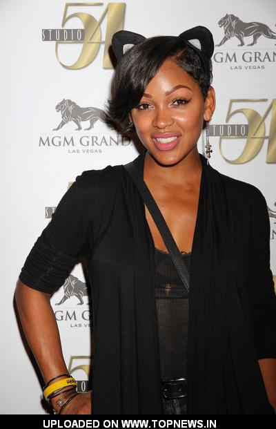 Meagan Good at Bam Margera 32nd Birthday Celebration at Studio 54 in Las Vegas