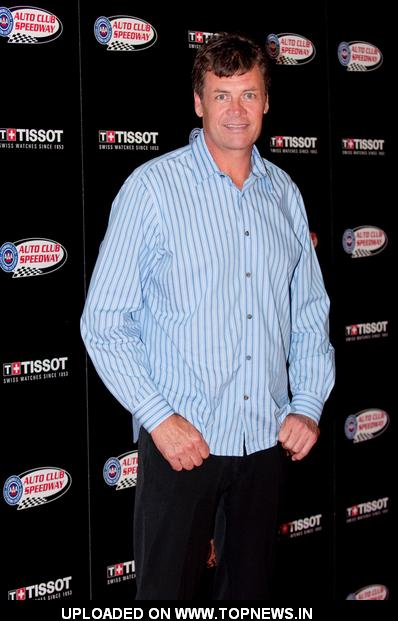 "Michael Waltrip at Auto Club Speedway and Tissot's ""Running Wide Open"" Event - Arrivals"