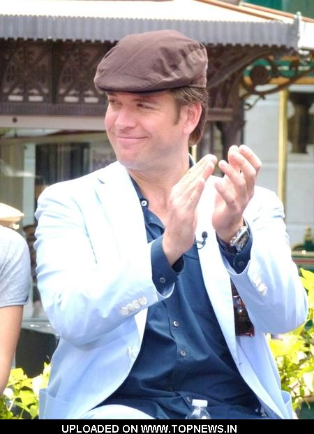 "Michael Weatherly at ""Extra"" Interview with the Cast of ""NCIS: Naval Criminal Investigative Service"" at The Grove in Los Angeles"