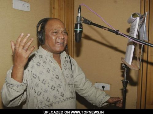 "Mohammad Aziz at Song Recording of Film ""Ek Raat"""