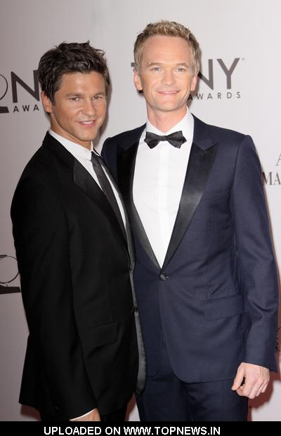 Neil Patrick Harris and David Burtka at 65th Annual Tony Awards - Arrivals