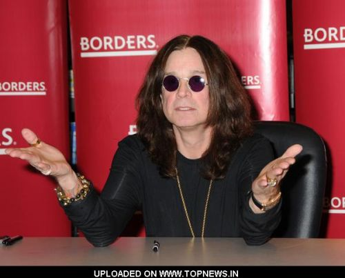 "Ozzy Osbourne's ""I Am Ozzy"" Book Signing at Borders Columbus Circle in New York"