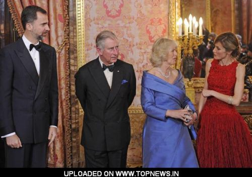 Prince Felipe, Princess Letizia, Prince Charles and Camilla Duchess of Cornwall Official Visit at Palacio Real de Madrid